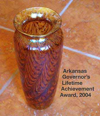 Governor's Lifetime Achievement Award, awarded to Evan Lindquist, 2004, by the Arkansas Arts Council